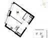 "Схема квартиры в проекте ""Wellton Towers""- #1648198581"