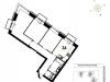 "Схема квартиры в проекте ""Wellton Towers""- #309353944"