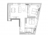"""Схема квартиры в проекте """"YE'S Ботанический сад""""- #1373366152"""