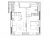 """Схема квартиры в проекте """"YE'S Ботанический сад""""- #228920906"""