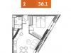 """Схема квартиры в проекте """"YE'S Технопарк""""- #547852835"""
