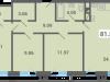 """Схема квартиры в проекте """"Южная долина""""- #1004053712"""