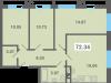 """Схема квартиры в проекте """"Южная долина""""- #747104970"""