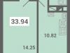 """Схема квартиры в проекте """"Южная долина""""- #1434150308"""