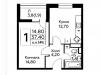 """Схема квартиры в проекте """"Южное Бунино""""- #1290287804"""