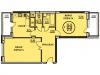 """Схема квартиры в проекте """"Южный""""- #658813023"""
