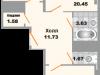 "Схема квартиры в проекте ""Зеленая Москва""- #26350442"