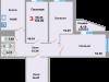 "Схема квартиры в проекте ""Зеленая Москва""- #1891126445"