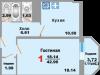 "Схема квартиры в проекте ""Зеленая Москва""- #1300193997"