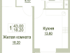 """Схема квартиры в проекте """"Зеленая околица""""- #1804378145"""