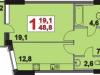 """Схема квартиры в проекте """"Жемчужина Виктории""""- #2098090789"""