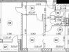 """Схема квартиры в проекте """"Золотая звезда""""- #136488069"""