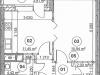 """Схема квартиры в проекте """"Золотая звезда""""- #644071114"""