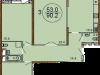 """Планировка квартиры в """"Жилой комплекс Золотое солнце""""- #1114602188"""