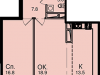"Схема квартиры в проекте ""Звезда Томилино""- #564827019"