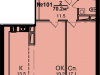 "Схема квартиры в проекте ""Звезда Томилино""- #1544843362"