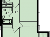 "Схема квартиры в проекте ""Звезда Томилино""- #1989899543"